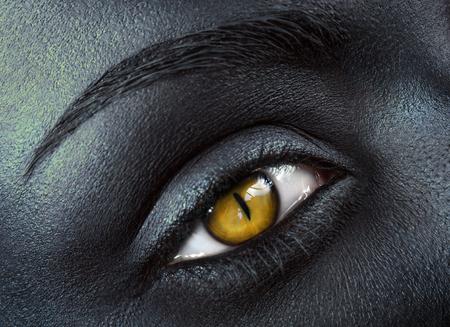 cat eye: Woman with cat eye Stock Photo