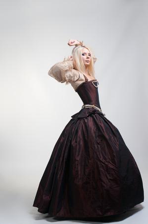 mediaval: Girl in medieval beautiful dress