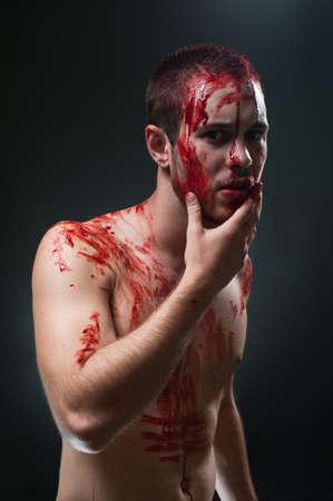 gory: Gory man.Studio portrait Stock Photo