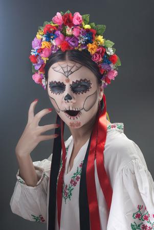 vibrancy: Day of the Dead in Ukrainian style