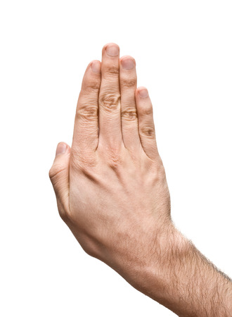 unknown men: Hands on the white background