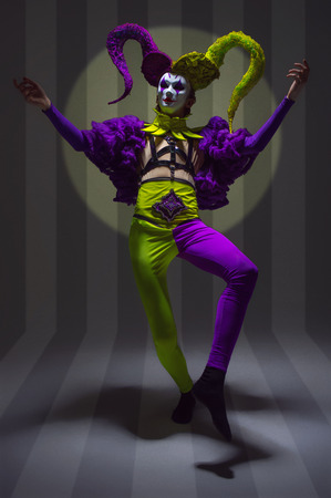 scary clown: Male evil scary clown