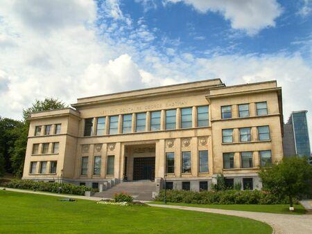 School of Dentistry in the Brussels Lepold park. Zdjęcie Seryjne