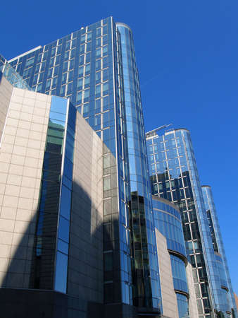 The official European Parliament building complex in Brussels, Belgium.