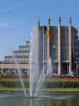 Convention and fair halls in Brussel. Built as a centennial memorial for Belgium's indepence in 1830. Also used as the backbone for the Brussels 1958 World Fair.