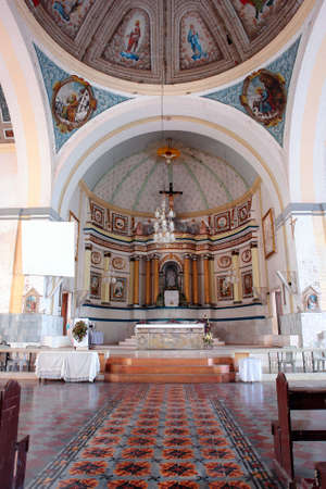 bohol: Interior of the historical baroque Filipino church in the coastal town of Loon, Bohol, Philippines. The Birhen sa Kasilak (Our Lady of Light) was transferred here in 1610 after Muslim bandits attacked and looted Butuan, Mindanao. Largest in the Visayas.