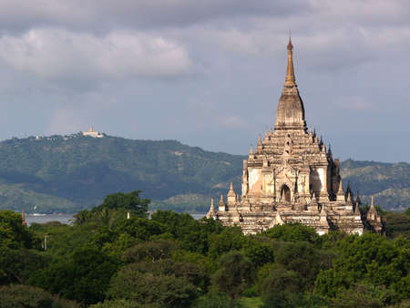 Buddhist Gawdapalin Temple, Bagan in Myanmar (Burma), one of the major tourism heritage landmarks, seen from the jungle. Stock Photo - 2753549
