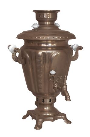 traditionally russian: old traditional russian samovar