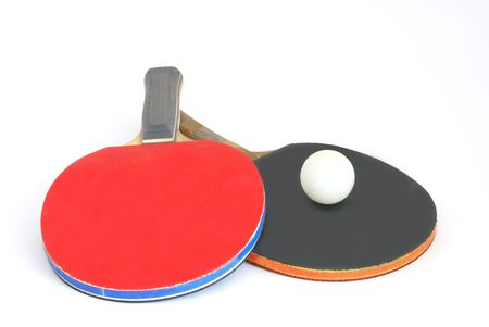 paddles: paddles for table tennis and a ball Stock Photo