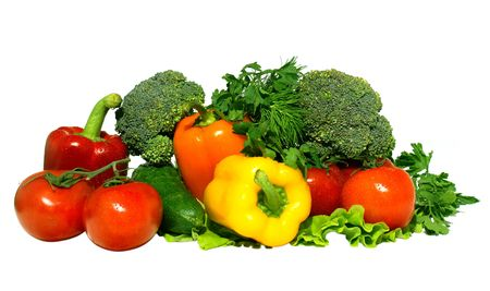 caustic: Different fresh tasty vegetables isolated on white background