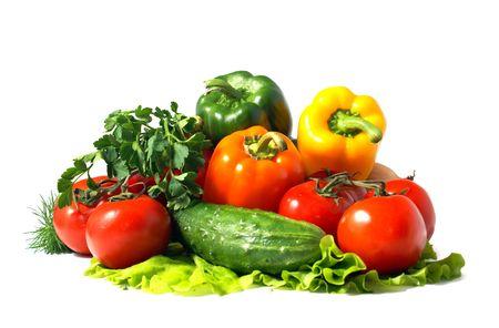 caustic: fresh  vegetables