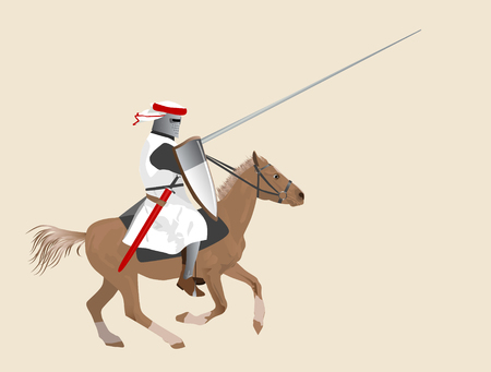 medieval knight: The medieval knight on a horse