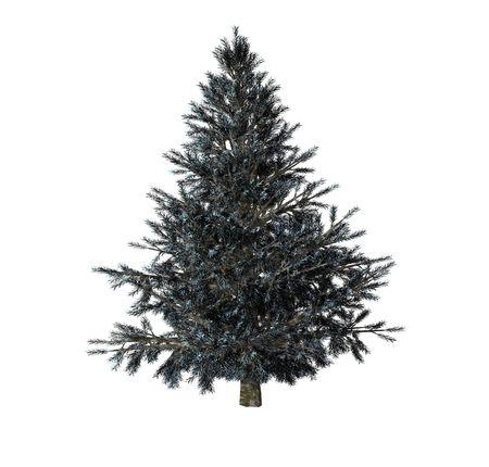 christmas tree isolated on white background photo
