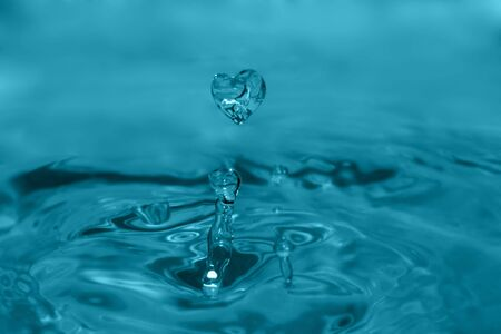 heart-shape splash