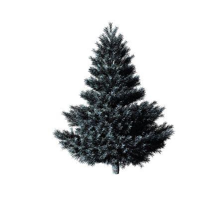 fiambres: �rbol de Navidad aislado en el fondo blanco