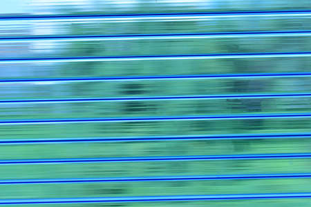 Blue striped transparent polycarbonate fabric on the construction