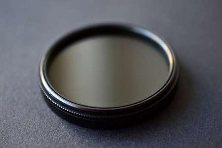 Light filter for camera on black background
