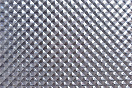 Plastic transparent plank with a triangular pattern