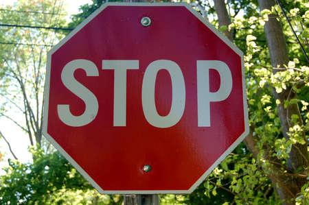 Señal de stop  Foto de archivo - 43630131