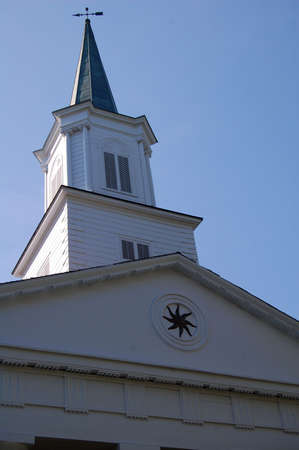 church steeple: Church steeple on cemetery