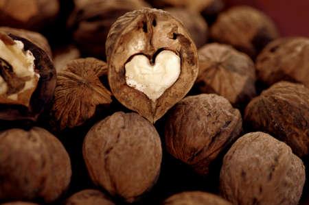 heart shaped walnut photo