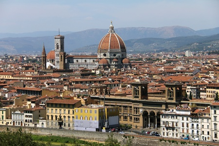 General view of Florence city  from Piazzale Michelangelo, Italy Stock Photo - 15031382