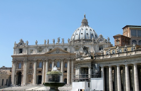 St Peters Cathedral in the Vatican state  Rome, Italy  Stock Photo - 15031403