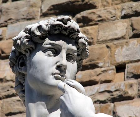 미켈란젤로의 다비드, 피렌체의 머리 스톡 콘텐츠