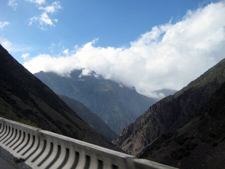 remoteness: Mountainous landscape of Kyrgyzstan