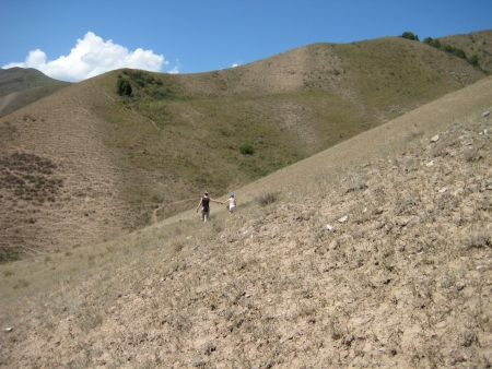 remoteness: Mountainous summer  landscape of Kyrgyzstan