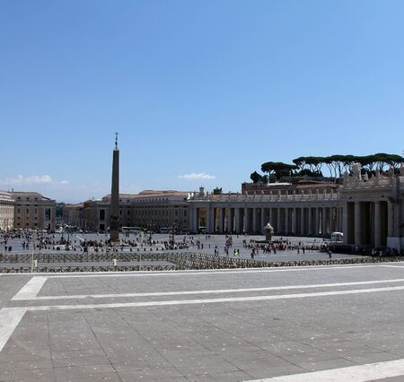 View of the Saint Peter s Square  Piazza San Pietro  from Saint Peter s  dome  Basilica di San Pietro  in Vatican City Stock Photo - 15155614