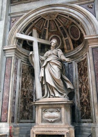 Saint Helena statue inside Saint Peter  Basilica, Vatican  Rome, Italy