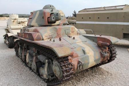 Old French light tank Renault R-35 (1935)