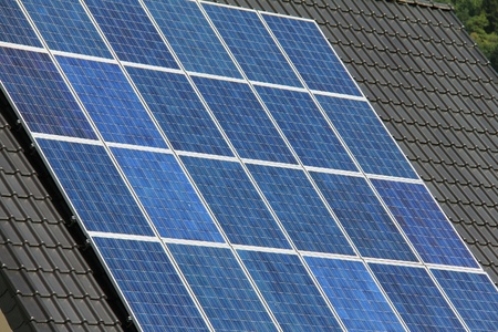 Solar panels allow the production of clean energy Stock Photo - 16422662