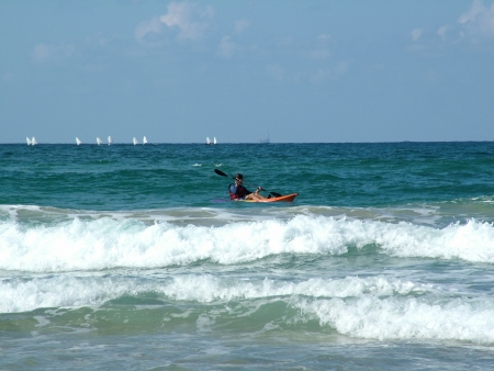 Kayak at the sea photo