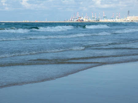 ashdod: View of  Ashdod beach and port , Israel