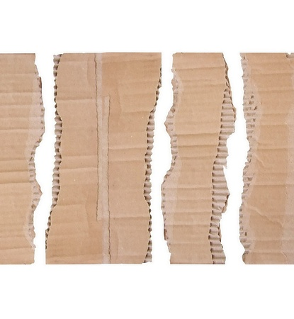 Collection of a cardboard pieces on white background  Each one is shot separately Stock Photo