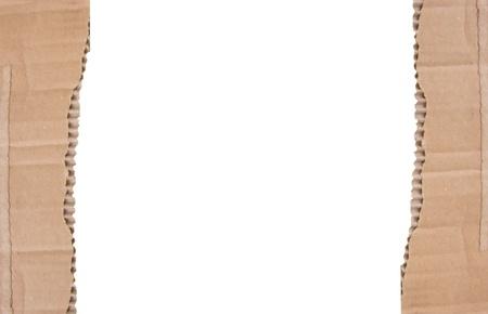 Cardboard frame on white background photo