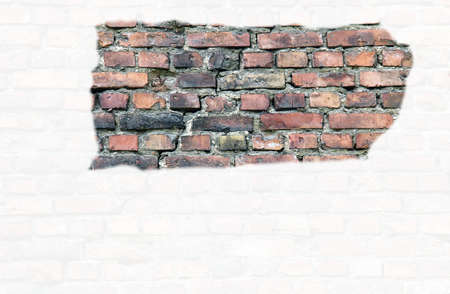 Painted brick wall Stock Photo - 16921716