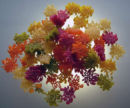 Colored pasta illuminated from behind Stock Photo - 16921710