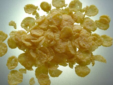 Cornflakes  illuminated from behind Stock Photo - 16921781