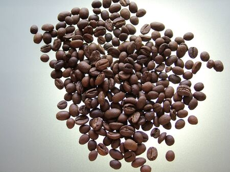 Coffee beans illuminated from behind Stock Photo - 16921771