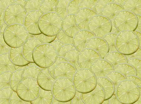 A slices of Lemon illuminated from behind Stock Photo - 16921758