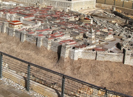 Model of Jerusalem dating from the time of the Second Temple   photo