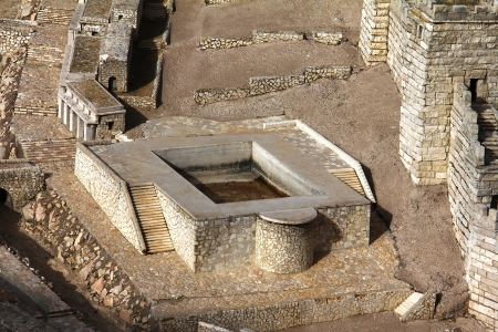 Model of the ancient Jerusalem  Silwan pool photo