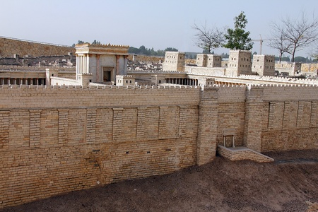 Second Temple  Model of the ancient Jerusalem  Israel Museum photo