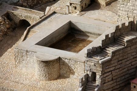 Model of the ancient Jerusalem  Silwan pool Stock Photo - 17163915