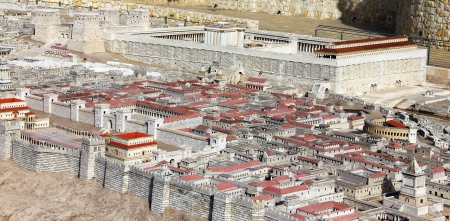 Model of Jerusalem dating from the time of the Second Temple