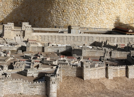 Model of the ancient Jerusalem Stock Photo - 17163921