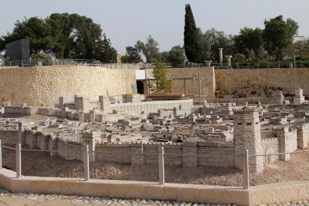 Model of the ancient Jerusalem Stock Photo - 17163907